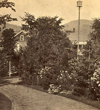 New listing Kilburn Bros Stereoview Home Of The Martins Home With Large Birdhouse
