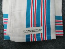 24 NEW BABY INFANT RECEIVING SWADDLING HOSPITAL BLANKETS LARGE 30''X40'' STRIPED