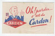 CHOCOLAT CARDON CAMBRAI  BUVARD PUBLICITAIRE