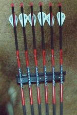 """Black Eagle Carnivore Fletched Arrows - .001"""" 6 Pack - 350"""