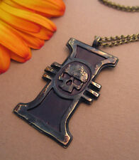 Warhammer 40K Inquisition Ancient  Metal  Enamel Pendant Necklace With Chain Bra