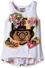 Trukfit Girls' Lil Tommy Hi Low Tank, White, XL