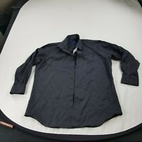 David Donahue Shirt Mens  Button front  17.5  32 / 33 Trim Black dm