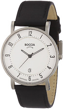 Boccia Men's Titanium Leather Strap Watch B3533-03