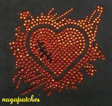 Transfert en strass thermocollant hotfix textile Love DIY customisation