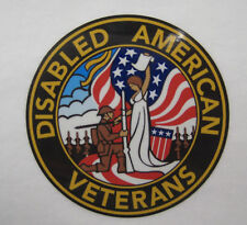 "American Disabled Veterans Decals Stickers -  3.5"" Diameter"