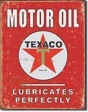 Texaco Motor Oil USA Tankstellen Metall Deko Werbung Schild im vintage Design