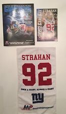 Michael Strahan NY Giants Hall of Fame Ring Ceremony Program Jersey Towel +