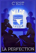 Art French Milde Radio Deco Ad Poster Print