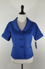 LAFAYETTE 148 New York Women's Short Sleeve Blazer Jacket Blue Size 2