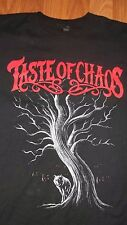 (2 SIDED) Metalcore TASTE of CHAOS T-Shirt small Dashboard Confessional Saosin
