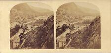 ITALIE Val de Suse Piémont Brunetta Stéréo Stereoview Vintage albumine ca 1860