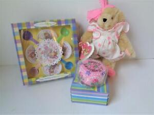1996 Muffy VanderBear HAPPY BIRTHDAY TO YOU Cake Table Setting Teddy Bear