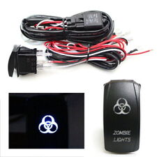 2-Output Relay Wiring Harness w/ Zombie Lights LED Light Switch For Fog Lamp