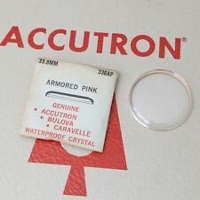Bulova Accutron 33.8mm Crystal Part #336AP New Old Stock Armored Pink