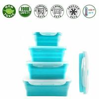 Silicon Food storage Containers set with leak proof lid Lunch Box BPA Free