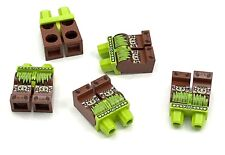 Lego 5 New Lime Hips Dark Brown Legs Lime Loincloth Spider Knee Pads Black Claws