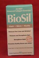 Natural Factors Biosil Hair Skin Nail 60 Veg Caps Advanced Collagen Generator