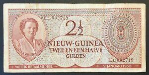 Dutch New Guinea - 2½ Gulden Banknote - 1950 - VF
