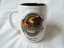 Downtown Disney Rainforest Cafe White Mug Black Interior