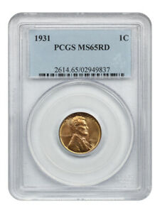 1931 1c PCGS MS65RD - Lincoln Cent