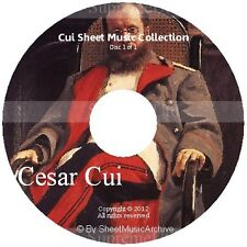 Massive Professional Cesar Cui Sheet Music Collection Archive Library on DVD