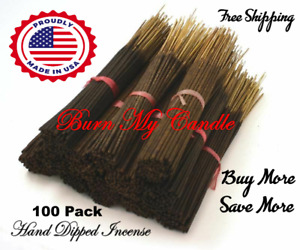 HEAVILY SCENTED INCENSE STICKS HAND DIPPED  ~ Bulk Wholesale ~ 100 Bundle