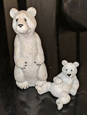 Quarry Critters Barney & little Bear Grey Stone Second Nature Designs 2.5