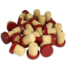 Red Plastic Topped Corks for Wine Bottle Corks For Home Wine Brewing