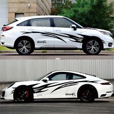 Pair Car Sticker Car Body Side Door Auto Vinyl Sticker Racing Decoration Decals