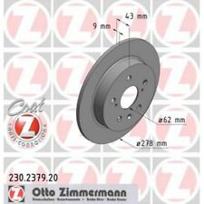 2x ZIMMERMANN Brake Disc COAT Z 230.2379.20