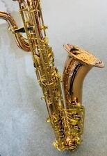 Baritone Saxophon Professionell Neu Phosphor Kupfer Anfertigung mit Mundstück