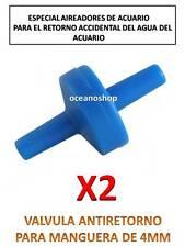 2X VALVULA ANTIRETORNO para ACUARIO Tubo Aire y CO2 Oxigenador bomba difusor