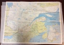 Quebec Map by the National Geographic Society March 1991