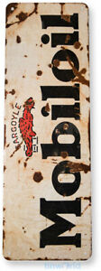 Mobil-oil Gas Oil Sign, Station, Garage, Auto Shop, Retro Rustic Tin Sign A500