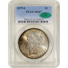 1879-S US Morgan Silver Dollar $1 - PCGS MS67 - CAC Verified