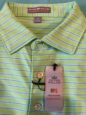New Mens Peter Millar Summer Comfort S/S Polo/Golf Shirt Size Medium (M) Green