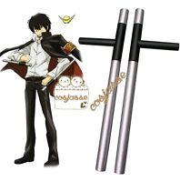 Hot Reborn Hibari Kyoya Tonfas Cosplay Wooden Weapons Katekyo Hitman