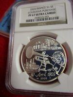 2003 France Silver 1.5 Euro Louisiana Purchase usa NGC PF67 Bicentennial coin