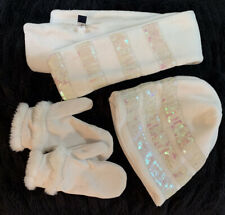 Girls GapKids Ivory Scarf, Hat And Mittens