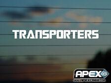 Los transportistas-Transformers Transportador VW parodia-Pegatina De Vinilo-Blanco