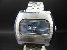"L241 ⭐⭐Vintage "" Orion "" Digital Disc Clock Men's Watch Hand Wound Defective ⭐⭐"