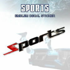 1 X Red & Black Sports 3D Design Logo Auto Car Emblem Badge Sticker