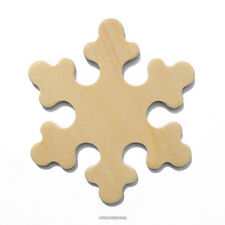 25 Wood Snowflake Cut Out Shapes, 3 Inches Unfinished Wood. Made in USA (#0660)
