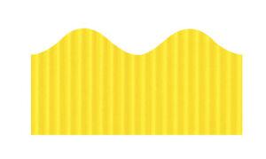 Bordette Scalloped Decorative Border Roll, 2-1/4 Inch x 50 Feet, Canary