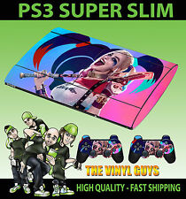 PLAYSTATION 3 SUPERSLIM HARLEY QUINN SUICIDE SQUAD 02 SKIN STICKER & 2 PAD SKINS