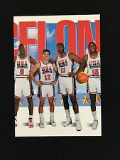 "TEAM USA MICHAEL JORDAN, MAGIC, ""THE BARCELONA TEAM"" SKYBOX 1992 BASKETBALL CARD"