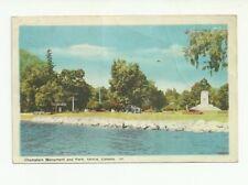 CHAMPLAIN MONUMENT AND PARK, ORILIA, ONTARIO, CANADA. VINTAGE POSTCARD