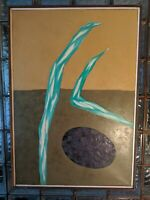 Vintage 1968 ROBINSON MURRAY Mid-Century Abstract Painting Boston Expressionist