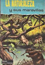 LA NATURALEZA Y SUS MARAVILLAS. FHER, 1964. Álbum cromos incompleto, faltan 124.